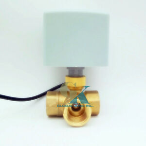G3 4 Brass 3 Way 220vac Motorized Ball Valve T Type Dn20 Electrical Valve