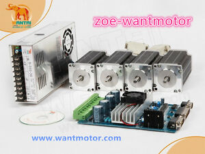 Usa Is Free wantai 4axis Kit Nema23 Stepper Motor 3a 270oz in 4axis Driver Board