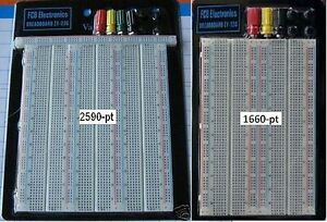 Fcb usa 2x Breadboards 1x 1660 1x 2590 pt Breadboard W 3 Power Posts large