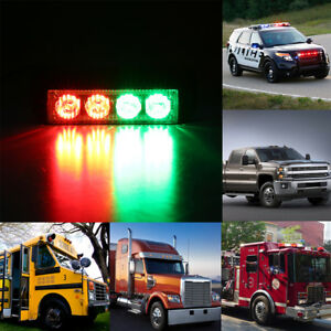 4led Red Blue Car Emergency Warning Beacon Strobe Flash Light Lamp Car Boat Truc