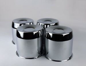 4 Steel Chrome Center Caps For 5 15 Trailer Wheel Rims Center Bore