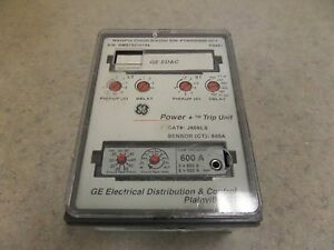 Ge Power Trip Unit J808ls Wavepro Circuit Breaker