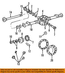 Gm Oem Rear Axle Differential Pumpkin Cover Incls Gasket And Bolts 12479377