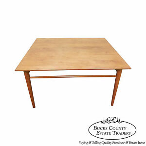 Paul Mccobb Mid Century Modern Maple Square Coffee Table