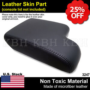 Leather Armrest Console Lid Cover For Bmw E36 3 Series 1992 1999 Black Lhd