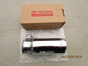 16 19 Toyota Tacoma Sr Sr5 Limited Trd Chrome Steel Exhaust Tip New 35162