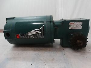 Reliance Electric Motor W dodge Reducer 1 2hp 230 460v 2 2 1 1a Ratio 56 175 20