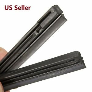 2pcs 25 1 2 6mm Car Bus Rubber Universal Windshield Wiper Blade Refill