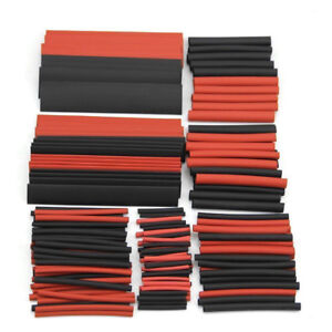 150pcs Polyolefin 2 1 Heat Shrink Tubing Tube Sleeving Wrap Wire Kit Cable