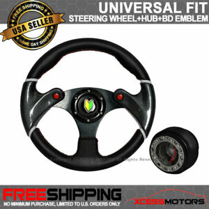 Universal Black Spoke Carbon Fiber Cf Racing Steering Wheel Hub Adapter