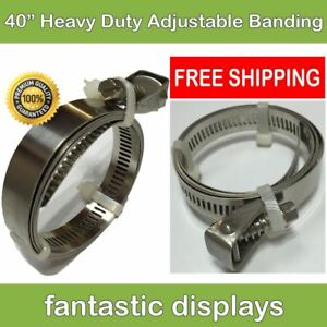 40 Heavy Duty Adjustable Hose Clamp Quick Release Flex Worm Gear Drive 32 Pack