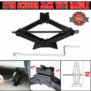 Hand Screw Scissor Lift Jack Universal 4410 Lb Capacity Car Auto Suv Truck Us