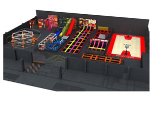 30500 sqft Commercial Turnkey Trampoline Park Sky Rider Playground We Finance $1,500,900.00