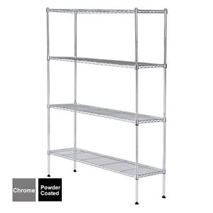 55 x36 x14 Heavy Duty 4 Tier Wire Shelving Rack Steel Shelf Adjustable 2 Colors