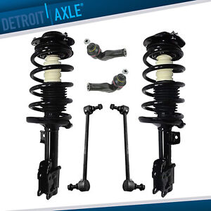 2004 2012 Chevy Malibu Pontiac G6 Front Strut W springs Sway Bar Outer Tie Rods