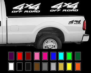 4x4 Off Road Truck Bed Decal Set Ford Super Duty F250 Vinyl Stickers