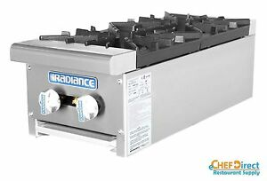 Radiance Tahp 12 2 12 Counter Top 2 Burner Gas Commercial Hotplate