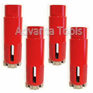 4pk 1 3 8 Turbo Segmented Dry Diamond Core Drill Bit For Granite Marble Stone