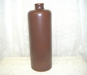 Vintage Brown Stoneware Jug Leroux Liqueur Liquor Bottle