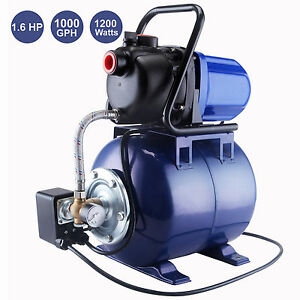 1 6 Hp 1 Electric Water Booster Garden Pump Irrigation System Pool Pond Farm