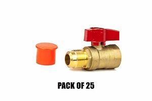 5 8 Flare X 3 4 Fip Straight Gas Ball Valve Csa Thread 600 Wog Pack Of 25