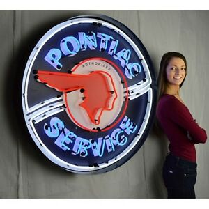 Neonetics Pontiac Service 36 Neon Sign In Metal Can 9ponbk