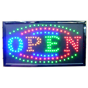 Large Bright Animated Business Led Open Sign 23 5 X13