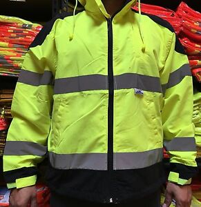 Class 3 High Visibility Safety Windbreaker Ansi Isea 107 2015