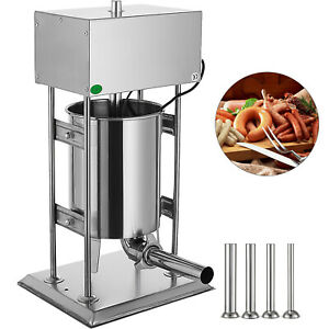 10l 25lb Electric Commerical Sausage Stuffer Stainless Dual Speed Meat Grinder