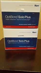 100 X Packets Kerr Optibond Solo Plus Unidose Refill Bonding Agent 29669