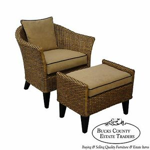 Barrel Back Rattan Lounge Chair Ottoman From Pier 1