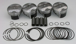 Nippon Racing K24 Full Floating Pistons Pnc Prb 87mm Standard Hst Rsx Si Hot Tsx