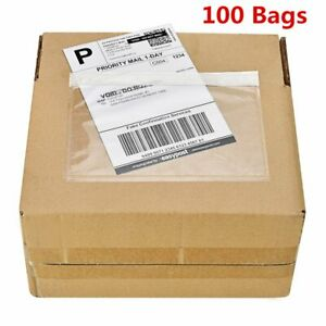 100 7 5 X 5 5 Clear Packing List Invoice Shipping Labels Envelopes Self Adhesive