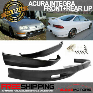 Fits 98 01 Acura Integra Poly Urethane Spoon Front Pu Rear Bumper Lip Bodykit