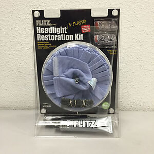 Flitz Polish Headlight Plastic Restoration Kit With Buff Ball Hr31501