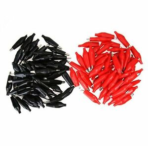 100pcs 36mm Alligator Leads Crocodile Clip For Electrical Jumper Wire Cable