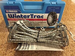 Peerless Wintertrac Traction Cables Tire Snow Chains Stock 0172155 Never Used