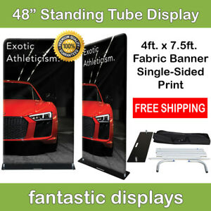 48x92 Fabric Tube Banner Stand Ez Display Tension Print For Trade Show Exhibit