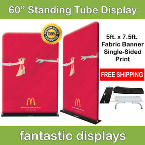 60x92 Fabric Tube Banner Stand Ez Display Tension Print For Trade Show Exhibit