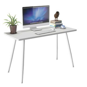 White Computer Laptop Writing Desk Table Student Study Decor Modern Home Office