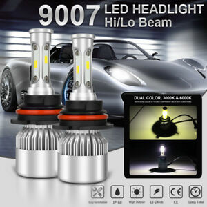 200w 20000lm Cree Cob 9007 Hb5 Led Headlight Kit Bulbs 6000k High Low Beam Power