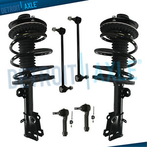Chrysler Town Country Voyager Dodge Caravan Front Struts Sway Bar Outer Tie Rods