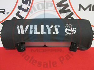Jeep Wrangler Black White Willys Left Or Right Side Sun Visor New Oem Mopar