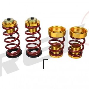 Rev9 06 11 Honda Civic Lowering Spring Sleeve Kit Red Dx Lx Ex Si