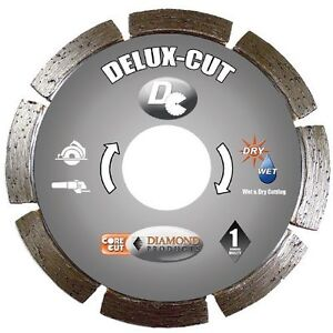 Diamond Products Core Cut 21072 4 1 2 inch By 0 250 Delux Cut Tuck Point Blade