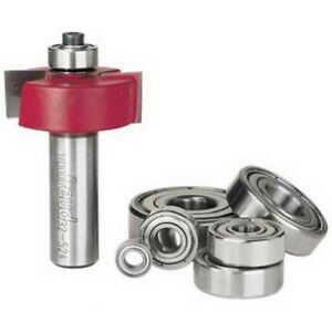 Freud 32 524 1 3 8 inch Rabbeting Router Bit With Bearing Set