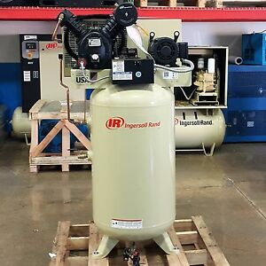Ingersoll Rand 5 Hp Piston Type 80 Gallon Tank 175 Psi 2475n5 p 230 Volt
