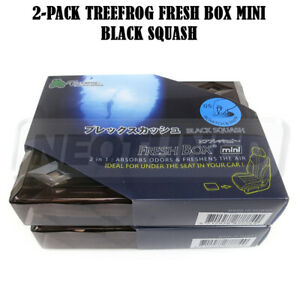 2 pack Treefrog Fresh Box Air Freshener Mini 80g Fresh Scent Jdm Black Squash