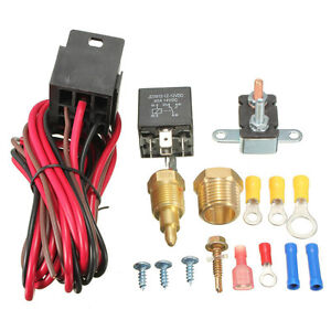 Best185 200 Electric Engine Cooling Fan Thermostat Switch Relay Accessories