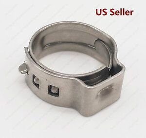 20 Pcs 3 8 Pex Stainless Steel Ear Clamp Cinch Ring Crimp Pinch Fitting Tubing